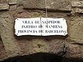 076 Portal de les Verges, o de Cal Quatre (Santpedor), placa.JPG
