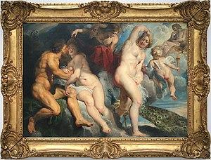 Ixion, King of the Lapiths, Deceived by Juno, Who He Wished to Seduce - Image: 0 Ixion roi des Laphites trompé par Junon qu'il voulait séduire Pierre Paul Rubens