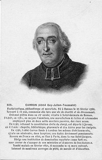Guy-Toussaint-Julien Carron - Abbé Carron, postcard F. Château