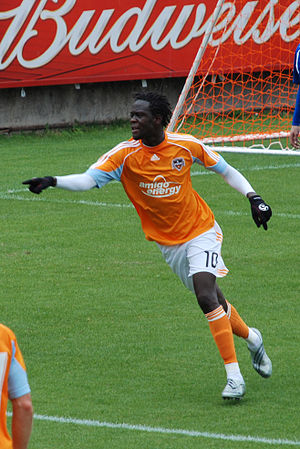 Kei Kamara - Kamara playing for the Houston Dynamo in 2009