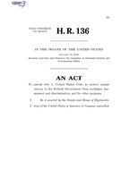 116th United States Congress H. R. 0000136 (1st session) - Federal Intern Protection Act of 2019 C -Referred in Senate.pdf