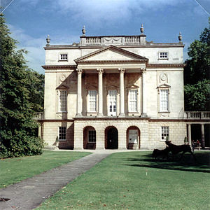126 film -  A photo of the Holburne Museum of Art, Bath, taken with 126 film and illustrating the square format.