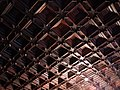 148 Castell de Santa Florentina (Canet de Mar), dormitori del rei, sostre.JPG