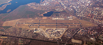 Berlin Tegel Airport - Aerial view of Berlin Tegel Airport
