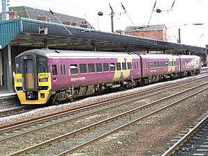 British railcars and diesel multiple units - A modern Class 158 diesel multiple unit