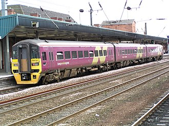 Arriva Trains Northern - TransPennine Express liveried 158798 at Doncaster station in July 2003