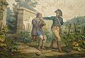 1803 Garde forestier en habit bleu de l'an VII, baudrier et sabre-briquet par Horace VERNET (1789-1863).jpg