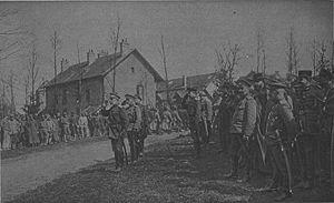 Courcy, Marne - Image: 181 13 Lochwitzky Palitzine et le régt russe Courcy