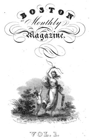 Boston Monthly Magazine - Boston Monthly Magazine, frontispiece for v.1, 1825