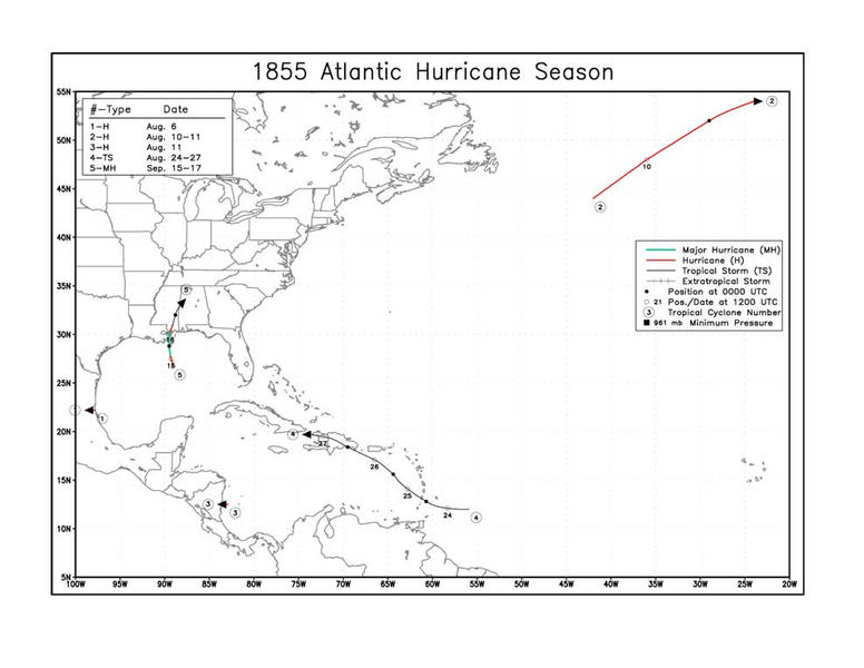 File:1855 Atlantic hurricane season map.png