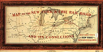 Erie Railroad - 1855 map