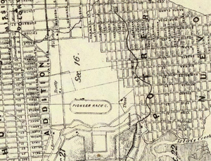 Pioneer Race Course - Image: 1861 Map of San Francisco, showing Pioneer Race Course