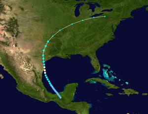 1902 Atlantic hurricane season - Image: 1902 Atlantic hurricane 2 track