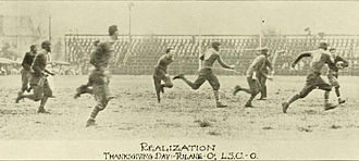 Tulane Green Wave football - The 13th Battle for the Flag, a 0-0 tie in New Orleans on November 26, 1914.