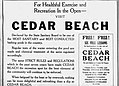 1922 - Ceader Beach Pool Ad - 26 Junl - Allentown PA.jpg