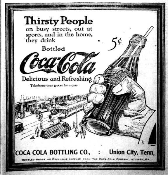 File:1922 bottled Coca-Cola ad.png