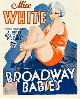 <i>Broadway Babies</i> 1929 film by Mervyn LeRoy