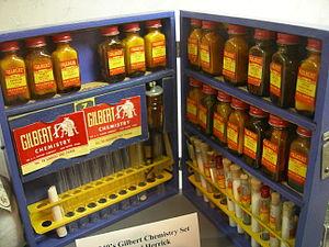 A. C. Gilbert Company - A 1940s Gilbert chemistry set.