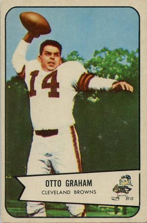 Otto Graham - 1954 Bowman football card