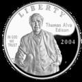 2004 Thomas Alva Edison Silver Dollar (Obverse).png
