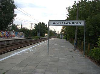 Warszawa Koło railway station - Image: 2007 09 02 Dworzec PKP Warszawa Kolo 2