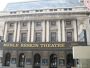 Merle Reskin Theatre - The marquee of the theatre in 2007