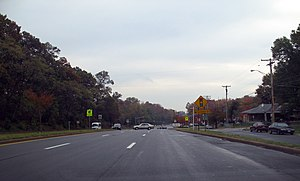 Maryland Route 202 - MD 202 at Matthew Henson Avenue in Landover