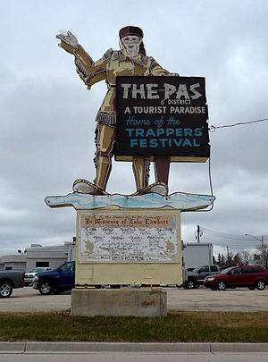 The Pas - Welcome sign