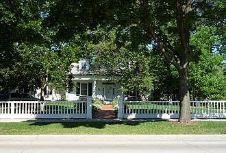 Green Bay, Wisconsin - Built in 1837, the Hazelwood Historic House Museum is on the National Register of Historic Places and is now used as the Brown County Historical Society.