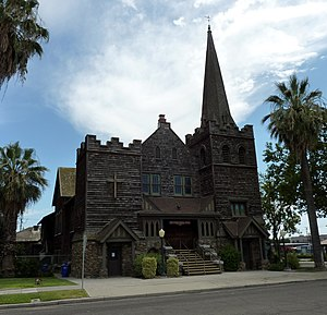Porterville, California - The First Congregational Church is also listed on the NRHP.
