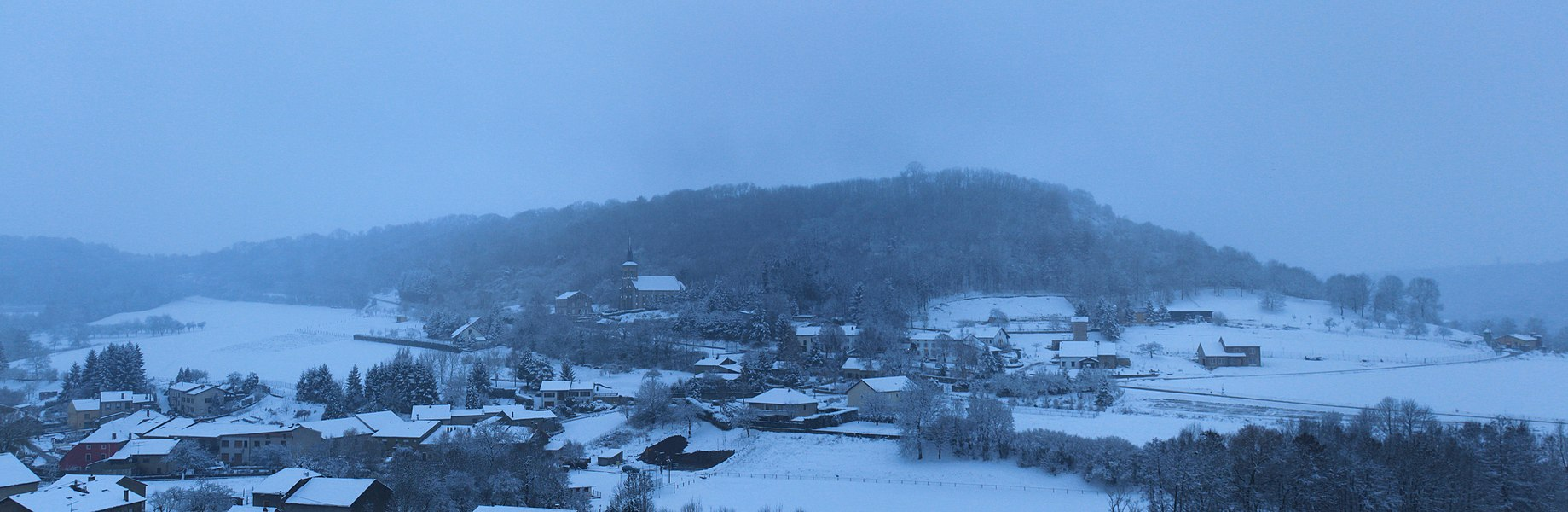 Montenach under snow