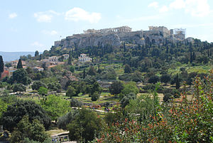 Acropolis of Athens - View of the Acropolis from the Agora, 2010.