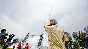 Rocket Festival - The rockets can reach very high altitudes