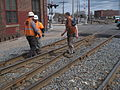 2014-0428-IMG 5144-Jct Points divergence (1st SW in prev pics)+workcrew measuring spacings.JPG