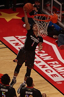 290ae6eda5c7 Allen dunking in the 2014 McDonald s All-American Game