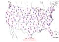 2015-10-13 Max-min Temperature Map NOAA.png