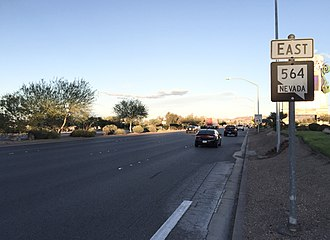 Nevada State Route 564 - View at the west end of SR 564 looking eastbound