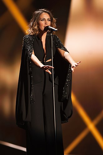 Albania in the Eurovision Song Contest 2015 - Elhaida Dani at a dress rehearsal for the first semi-final