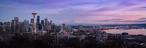 Kerry Park (Seattle) - Image: 20160124 GFJ2741 kerry park skyline seattle wa panoramic