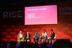 MobiKwik - MobiKwik founder Bipin Singh (second from right) at the 2016 Rise Conference