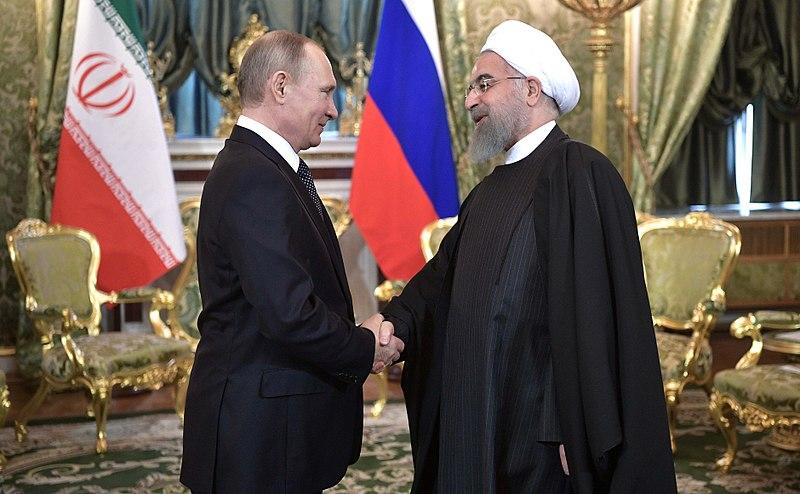 2017-03-28 Vladimir Putin and President of Iran Hassan Rouhani.jpg