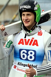 Domen Prevc Slovene ski jumper