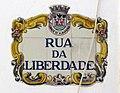 2018-02-10 Decorative tile street name sign, Rua da Liberdade, Albufeira.JPG