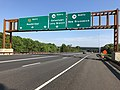 2018-05-26 08 03 18 View north along New Jersey State Route 444 (Garden State Parkway) at Exit 105 (New Jersey State Route 36 NORTH, New Jersey State Route 18 NORTH, Eatontown, Long Branch, New Brunswick) in Tinton Falls, Monmouth County, New Jersey.jpg