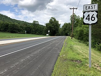 Liberty Township, New Jersey - US 46 eastbound in Liberty Township