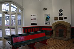 2018 at Grange-over-Sands station - inside the waiting room.JPG