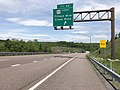 2019-05-17 12 15 21 View west along Interstate 68 and U.S. Route 40 (National Freeway) at Exit 62 (U.S. Route 40 Scenic, Fifteen Mile Creek Road) east of Pratt in Allegany County, Maryland.jpg