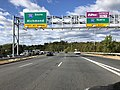2019-10-17 10 38 23 View west along Virginia State Route 294 (Prince William Parkway) at the exit for Interstate 95 SOUTH (Richmond) in Potomac Mills, Prince William County, Virginia.jpg