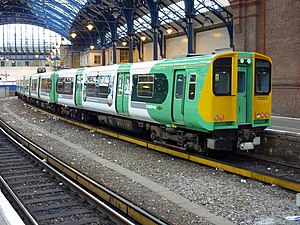 English: Southern Class 313/2 unit 313205 stan...