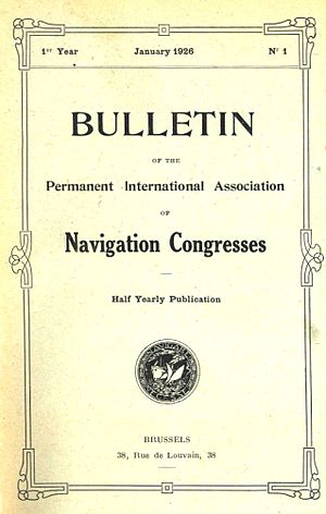 World Association for Waterborne Transport Infrastructure - Cover PIANC Bulletin January 1926